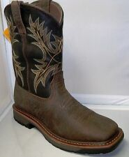 ARIAT MENS WORKHOG #10017436 WIDE SQ TOE BRUIN BROWN WORK BOOTS
