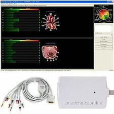 New Useful Version 12-lead Resting PC-ECG EKG Workstat​ion PC Software +USB 2016
