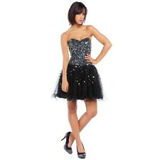 RUBY PROM - 'MIA' - SHORT FLIRTY SEQUIN PARTY DRESS WITH CORSET BACK - BNWT
