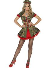 Adult Womens Fever Boutique Special Forces Army Smiffys Fancy Dress Costume