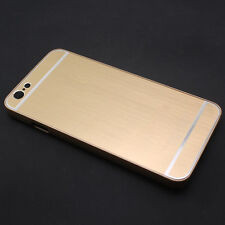 Glossy Brushed Hard PC Frame + Metal Back Case Cover Skin For iPhone 6 & 6 Plus