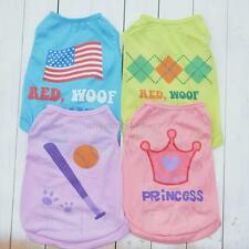 Summer Cute Puppy Little Dog Cat Pet Clothes Cotton Vest T Shirt Apparel Costume