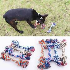 Puppy Teeth Cleaning Tool Pet Dog Cotton Rope Braided Knot Bone Molar Chew Toy