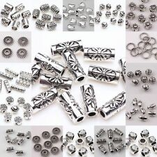New Silver Plated Loose Spacer Beads Charms Findings For Jewelry DIY 20-100pcs