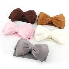 12Color Sweet Women Bowknot Elastic Bow Wide Stretch Buckle Waistband Waist Belt