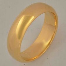 Smooth 9K Real Gold Filled Men's Band Ring Size7 8 9 10 11 Free Shipping