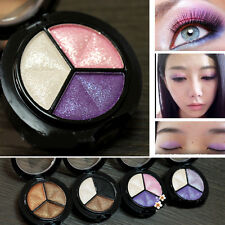 Hot Smoky Makeup 3Color Glitter Matte Eyeshadow Eye Shadow Palette Cosmetic 1Set