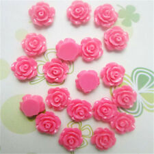 30pcs Choose 7 Colors Resin Rose Flower flatback Appliques For DIY phone/craft