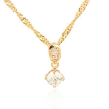 18K Gold Plated Multicolor CZ Round Drops Pendant Only Fit  Long Chain Necklace