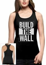 Build The Wall Republican Party Election Campaign Racerback Tank Top Political