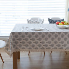 Pretty Black White Trees Dinning Coffee Table Cotton Linen Cloth Covering L