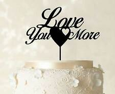 Love You more Cake Topper Heart Cake Topper Decoration Wedding Cake Topper