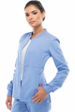 Dickies Women's New Long Sleeve Pocket Snap Front Warm Up Scrub Jacket. 85304A