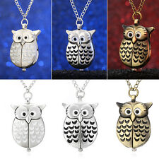 Owl Pocket Pendant Watch Key Ring Chain/Necklace Fashion Cute Pocket Pendent