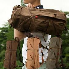 Canvas Vintage Men's Rucksack Shoulder Backpack Bag Hiking Camping Travel Bag