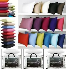 Pair of Luxury Duck Feather pillow with Pair of Poly Cotton Plain Pillowcases