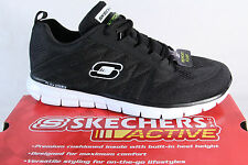Skechers Men's Lace-up Shoes Trainers Sports Shoes black new