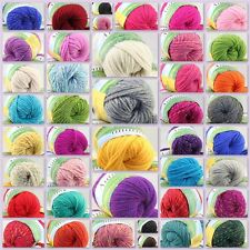 Sale New 1 Skein x 50g Quick Hand Knitting Yarn Soft Worsted Wool Silk Velvet