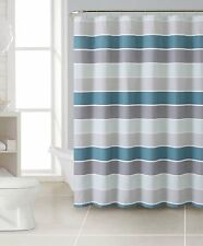 """Cinder Striped 100% Cotton Fabric Shower Curtain 72"""" x 72"""" Inches"""