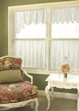 Heritage Lace FLORET Panels, Tiers, Swags, Valances in Ecru or White NEW