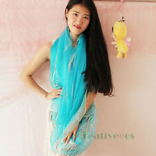 Elegant Sexy Women's Solid Color With Trim Long Wrap Scarf Shawl Princess Style