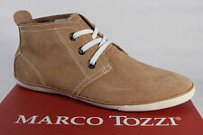 Marco Tozzi Ladies Lace-up Shoes Low Shoe Sneaker Leather brown NEW
