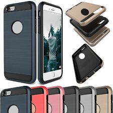 Hybrid Shockproof Rubber Slim Brushed Hard Case Smart Cover For iPhone 5 5s SE