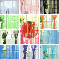 Hot Home Floral Tulle Voile Door Window Curtain Drape Panel Sheer Scarf Valances