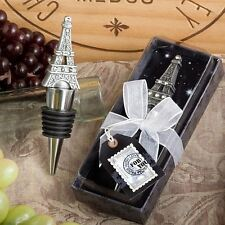 6 X From Paris With Love Eiffel Tower Wine Bottle Stopper Wedding & Party Favor