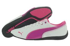 Puma Drift Cat 6 L Jr. 30518207 White Viola Leather Casual Shoes Medium Youth