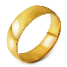 Authentic Womens Mens 14K gold filled Promise Smooth Band Ring Size 8-11