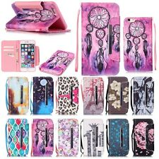 Flip Leather Wallet Card Stand Magnetic Case Cover For iPhone 6 6S Plus W/Strap