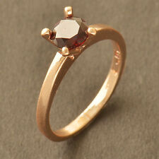 Red Ruby Rose Gold Filled Wedding engagement eternity womens Ring,Size 6 7 8 9