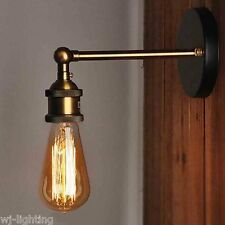 Gold Metal Vintage Retro Industrial Ceiling Wall Light Lamp Adjustable Fixture