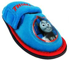 Boy's Thomas The Tank Engine No1 Weld Blue Single Adjustable Strap Slippers New