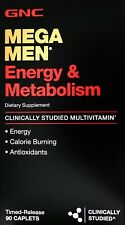 GNC Mega Men MultiVitamin Energy Metabolism Mental Focus, 90 180 or 360 Tablets