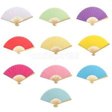 10 Colors Chinese Double-sided DIY Painting Paper Hand Fan Wedding Party Favors