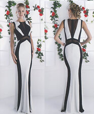 Stretchy Fitted Prom Two Toned Mock Evening Long Dress Birthday Party 4~14
