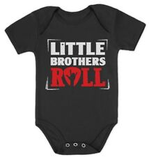 Baby Boys Little Brothers Roll Best Siblings Gifts Rock Baby Bodysuit Cool