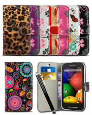 Pattern Wallet Case For Sony Xperia E3 Dual Mobile Phone Flip Cover & Stylus