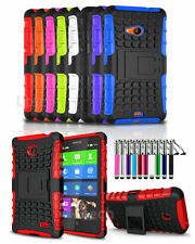 Nokia Lumia 930 Heavy Duty Shockproof Case Cover Stand & Retractable Pen