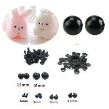 100pcs 6-14mm Toy Safety Eyes For Teddy Bear 2016 Black Plastic Animal/Felting