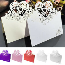 50 PCS LOVE HEART WEDDING RECEPTION SEATING TABLE PLACE CARDS
