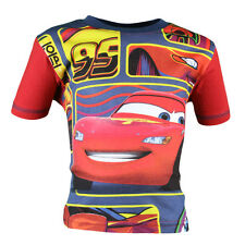 T SHIRT SHORT SLEEVES CHILD DISNEY CARS RED