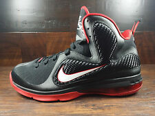 Nike Lebron 9 OG BRED (Black/White/Sport Red) Miami [469764-003] Mens Size 10.5