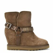 Ash Footwear Youri Grey Suede Shearling Wedge Boot RRP £239