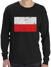 Poland Flag Vintage Retro Polish Style Polska Long Sleeve T-Shirt Gift Idea