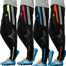 Mens Skinny Soccer Pants Football Training Sweat Tracksuits Jogging Trousers