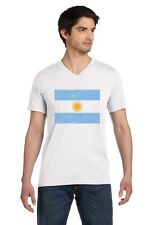 Argentina Flag Vintage Style Retro V-Neck T-Shirt Gift Idea