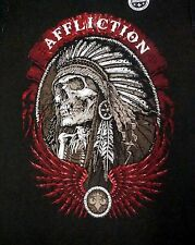 NWT Affliction REVERSIBLE T Shirt Mens M L Long Sleeve LS NEW Black Brown